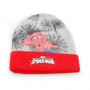Комплект шапка и шал Spiderman by Marvel червено със сиво