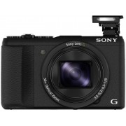 Sony DSC-HX60B Digitale camera 20.4 Mpix Zoom optisch: 30 x Zwart Full-HD video-opname, WiFi, Flitsschoen