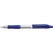 Pix cu gel PENAC CCH-3, rubber grip, 0.5mm, corp transparent - scriere albastra