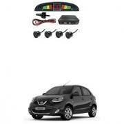 KunjZone Car Reverse Parking Sensor Black With LED Display Parking Sensor For Nissan Micra