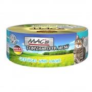 MAC's -5% Rabat dla nowych klientówMAC´s Cat Feinschmecker karma dla kota, 6 x 100 g - Drób i łosoś Darmowa Dostawa od 89 zł i Promocje urodzinowe!