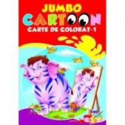 Jumbo cartoon - carte de colorat 1