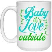 Baby It's Love - Christmas Quotes - 15 oz. White Mug - 2040
