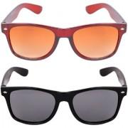 Aligatorr Combo Of 2 Wayfarer Unisex Sunglasses kc bnkc black glasCRLK