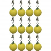 Decoris 12x Tafelkleedgewichtjes citroenen fruit 5 cm