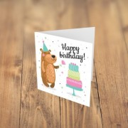 Felicitare cadou HAPPY BIRTHDAY ursulet