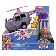 Set de joaca vehicul transformabil 2 in 1 skye flip and fly patrula catelusilor