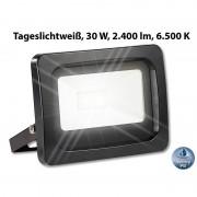 Luminea Wetterfester LED-Fluter, 30 W, 2.400 lm, IP65, 6.500 K, tageslichtweiss