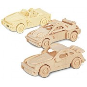 Puzzled F 20, P 911 And B 740 I Wooden 3 D Puzzle Construction Kit
