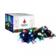 Instalatie pentru Craciun Multicolor RGB cu 80 LED-uri tip Globulete Lungime 13m 8 Moduri de Iluminare