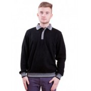 Мъжки пуловер с яка