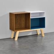 [en.casa] Estantería de oficina - Estante de libros - Consola con 3 compartimentos 68 x 90 x 30cm