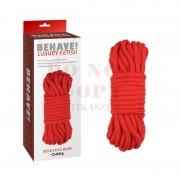 Luxury piros bondage kötél - 10 m