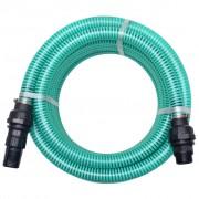 vidaXL zöld szívótömlő csatlakozókkal 7 m 22 mm