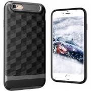 Louiwill Estuche KOBWA Para IPhone 6 Plus, Estuche Para IPhone 6S Plus, 2 En 1 Estuche Para IPhone 4 Soft 3D Rhombus TPU + PC, Estuche Antideslizante Antideslizante Para Cuerpo Entero Y Antideslizante Para Apple IPhone 6 Plus / 6S Plus -Grey