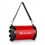 Dr. Red Boom 2.1-Bluetooth-Lautsprecher 20 W max. USB SD AUX Akku Rot