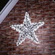 Kültéri 3D csillag sziluett hideg fehér