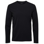 SELECTED HOMME Tricou bărbătesc SLHBASIC LS O-NECK TEE B NOOS Black S