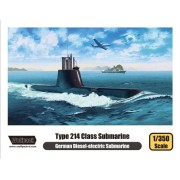 WPD13501 1350 Wolfpack German Type 214 Class Diesel-Electric Submarine [Model Building KIT]
