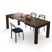 Mobili Fiver Mesa de cocina extensible, modelo Iacopo, color nogal americano