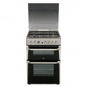 Indesit ID60G2X Gas Cooker with Double Oven - Stainless Steel