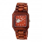 Earth Wood Black Rock Automatic Bracelet Watch - Red ETHEW4403