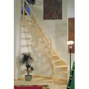 DOLLE Mlynářské schody NORMANDIA zatočené bez podschodnic smrk