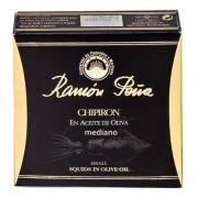 Ramón Peña Chipirones en aceite de oliva, linea oro, 130 gr. 6/8 piezas