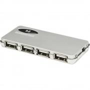 4-portni USB 2.0 hub Manhattan srebrni