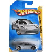 Hot Wheels 2008 New Models Tesla Roadster Silver First Edition #26 1:64 Scale Collectible Car