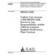 Medicare: Callers Can Access 1-800-Medicare Services, But Responsibility Within CMS for Limited English Proficiency Plan Unclear
