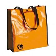 Geen Glimmende oranje eco boodschappentas