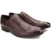 Clarks Banfield Slip Chestnut Leather Slip on For Men(Brown)