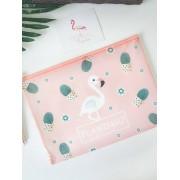 A4 Cute Premium Flamingo File Bag