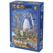 D-Toys Building the Burj Al Arab Jigsaw Puzzle, 1000-Piece