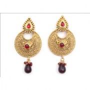 Indian Style Beaded Dangle Drop Fashionable Earrings Traditional Jhumka Jhumki Earrings for Women 12 Maroon