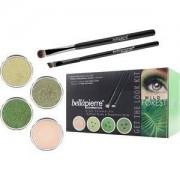 Bellápierre Cosmetics Make-up Sets Wild Forest Get the Look Kit Shimmer Powder Discoteque 2,35 g + Shimmer Powder Forest 2,35 g+ Shimmer Powder Reluctance 2,35 g + Mineral Makeup Base 8,5 g + Liner Brush + Oval Eyeshadow Brush 1 Stk.