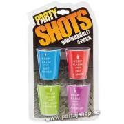 Party Shotsglas 4-pack