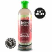 Gel de dus si spuma de baie cu pepene, Faith in Nature, 400 ml