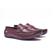 Worf Men Synthetic Leather Slip on Brown Casual Loafer