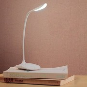 Fleejost Flexible Rechargeable LED Desk Eye-Care Study Lamp 3 Level Brightness Touch Sensor 360 Degree LXBxH 12X10X36C