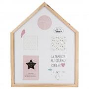 Atmosphera Créateur d'intérieur Obdélníkový rámeček pro 4 fotky, SWEETY HOUSE fotorámeček, rámeček na fotky - mini galerie na fotky