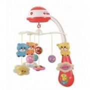 Carusel bebelusi cu muzica si Proiectie BabyMix Sleepy Red