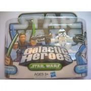 Star Wars Galactic Heroes Action Figures - Anakin Skywalker and Clone Trooper Episode II