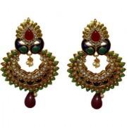 Pourni exclusive Designer Color stone Gold finish Earring - PRER117