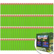 EKIND 100 Pcs 7.2cm Foam Darts for Nerf N-strike Elite Series Blasters Toy Gun Green