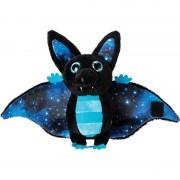 Geen Pluche zwart/blauwe vleermuis knuffel 17 cm speelgoed