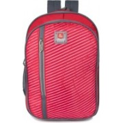 Classic Polyester School Bag  Shoulder Backpacks   Casual Bag for Girls & Boys 30 L Laptop Backpack(Red)