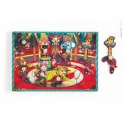 Janod puzzle muzical din lemn Zapatta Circus cu 7 piese 07075