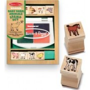 Set de stampile Pui de animale domestice Melissa and Doug